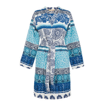 Exotic Jeans Jacquard Bathrobe