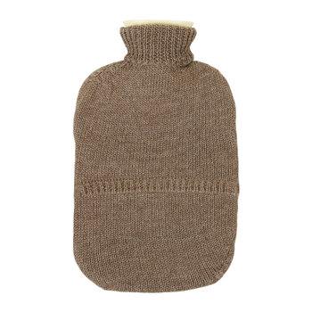 Alpaca Knit Hot Water Bottle - Nutmeg