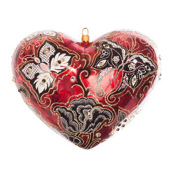 Austrian Artisan Heart Tree Decoration - Siam