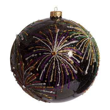 Fireworks Artisan Tree Decoration - Black