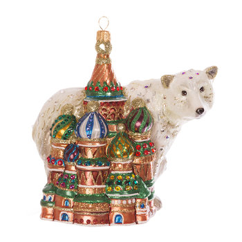 Kremlin & Polar Bear Tree Decoration - Jewel