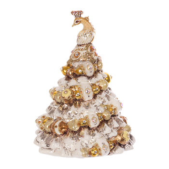Peacock Christmas Tree Decoration - Gold