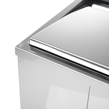 DW 215 Laundry Basket - Polished Stainless Steel