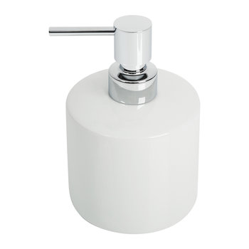 DW 520 Soap Dispenser - Porcelain White & Chrome