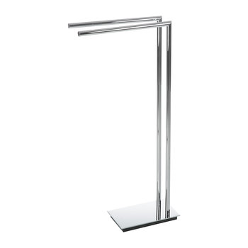 Straight 2 Towel Stand - Chrome