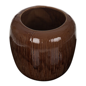 Stoneware Flowerpot - Brown