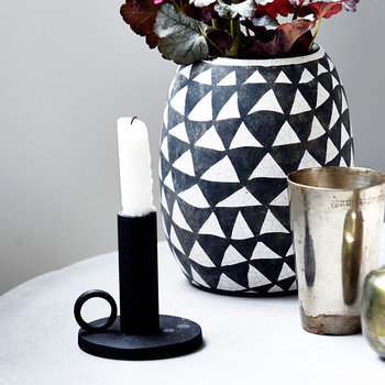 The Ring Candlestick - Black