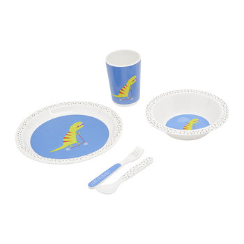 Children's Time to Dine Dinner Set - Blue Dino