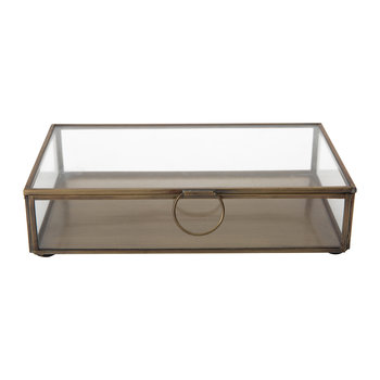 Janni Trinket Box - Brass/Glass - Rectangle