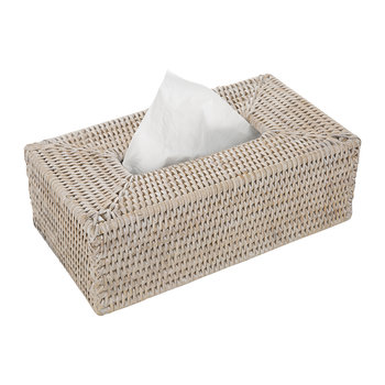 Basket KBX Tissue Box - Light Rattan