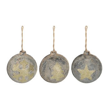Rustic Motif Tree Decorations - Set of 3