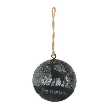 Silver Deer Tree Decoration