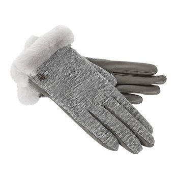 Women's Shorty Fabric Gloves - Grey Heather