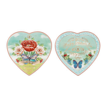 10 Year Anniversary Heart Plates - Set of 2