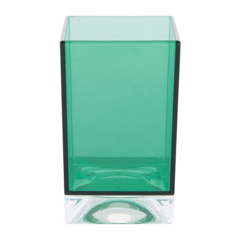 Square Toothbrush Holder - Aquamarine Green