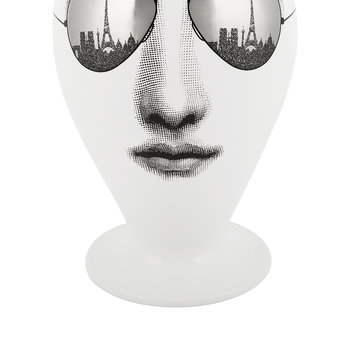 Paris Tour Vase - Black/White/Platinum