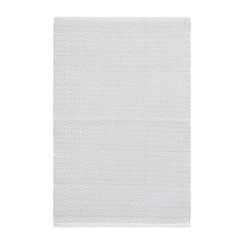 Herringbone Indoor/Outdoor Rug - Pearl Grey/White
