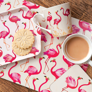 Flamingo Placemats - Set of 4