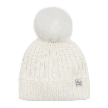 Detachable Pom-Pom Hat - Cream