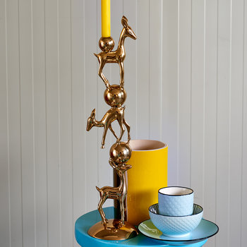 Bambi Candle Holder - Gold