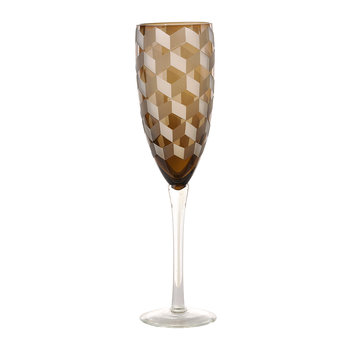 Blocks Multicolor Champagne Glasses - Set of 6