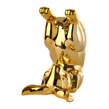 Gold Bunny Money Box - Playing
