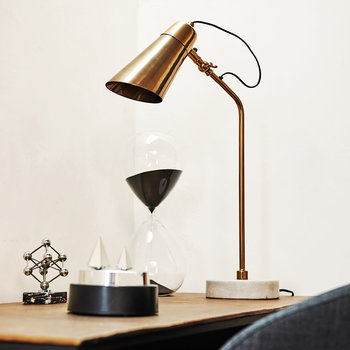 Marble Disk Table Lamp