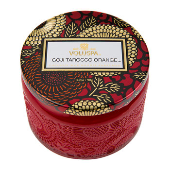 Japonica Limited Edition Glass Candle - Goji & Tarrocco Orange