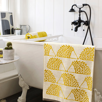 Spike Towel - Mustard - Bath Sheet