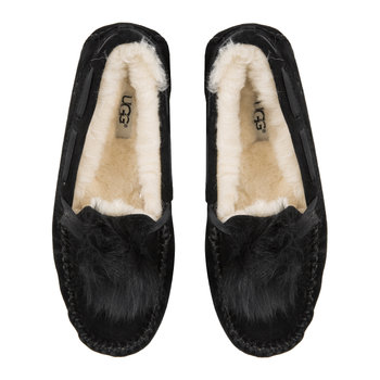 Women's Dakota Pom Pom Slippers - Black