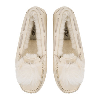 Women's Dakota Pom Pom Slippers - Cream