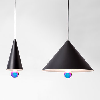 Cherry Pendant Lamp - Black/Rainbow - Large