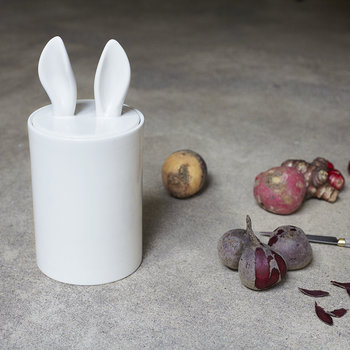 Curiosity Ceramic Container - White