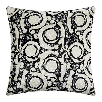 Bavelvet Pillow - 60x60cm - Black/White