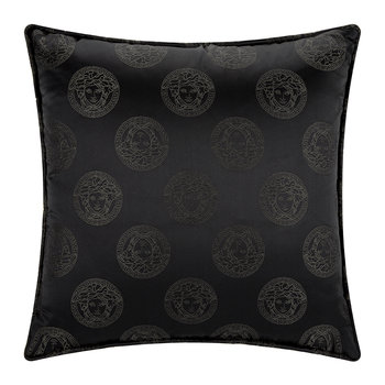 Medusa Royale Silk Pillow - 45x45cm - Black