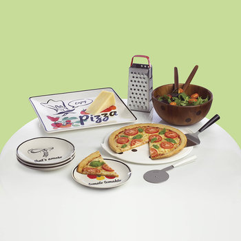 Any Way You Slice It Pizzateller - 4er-Set