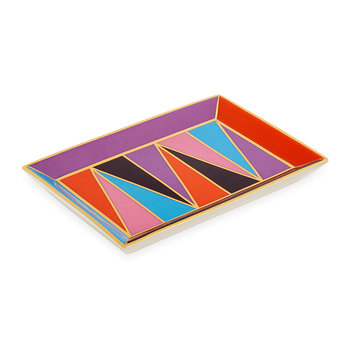 Harlequin Rectangular Tray - Multicolour