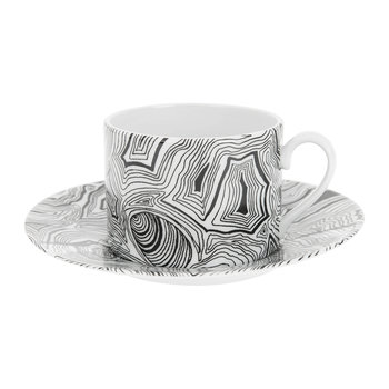 Malachite Tea Cup - Black/White
