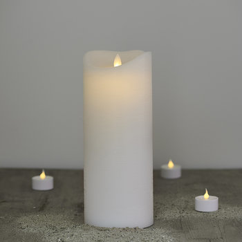 White Sara Exclusive LED Candle