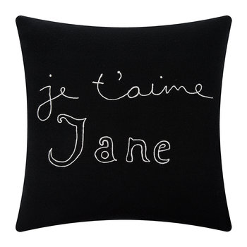 Je T'aime Jane Pillow - Black