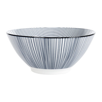 Assorted Check & Stripe Bowls - Set of 4