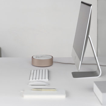 Eclipse 3 Port USB Charger - Marble/White