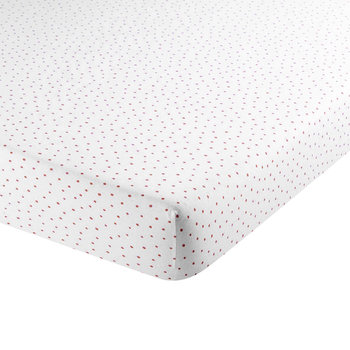 Speckle Fitted Sheet - Coral