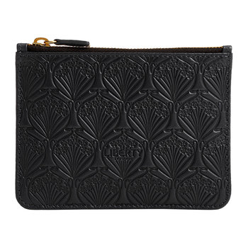 Embossed Coin Pouch - Black
