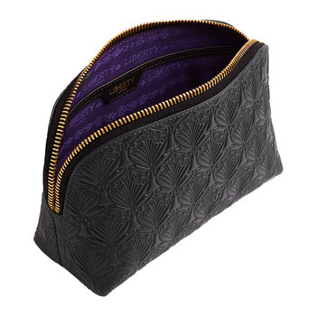 Embossed Cosmetic Bag - Black