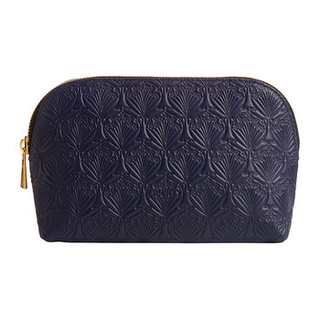 Embossed Cosmetic Bag - Navy