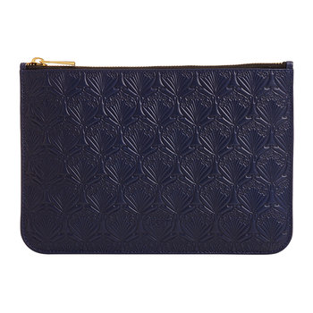Medium Embossed Pouch - Navy