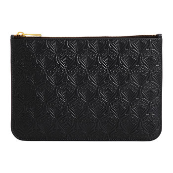 Medium Embossed Pouch - Black