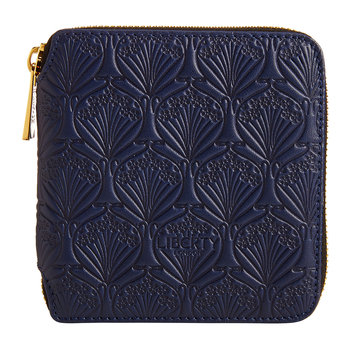 Navy Embossed Wallet