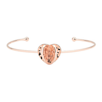 Heteya Confetti Heart Ultra Thin Cuff - Rose Gold